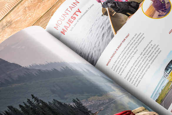 mountain majesty, close up on magazine